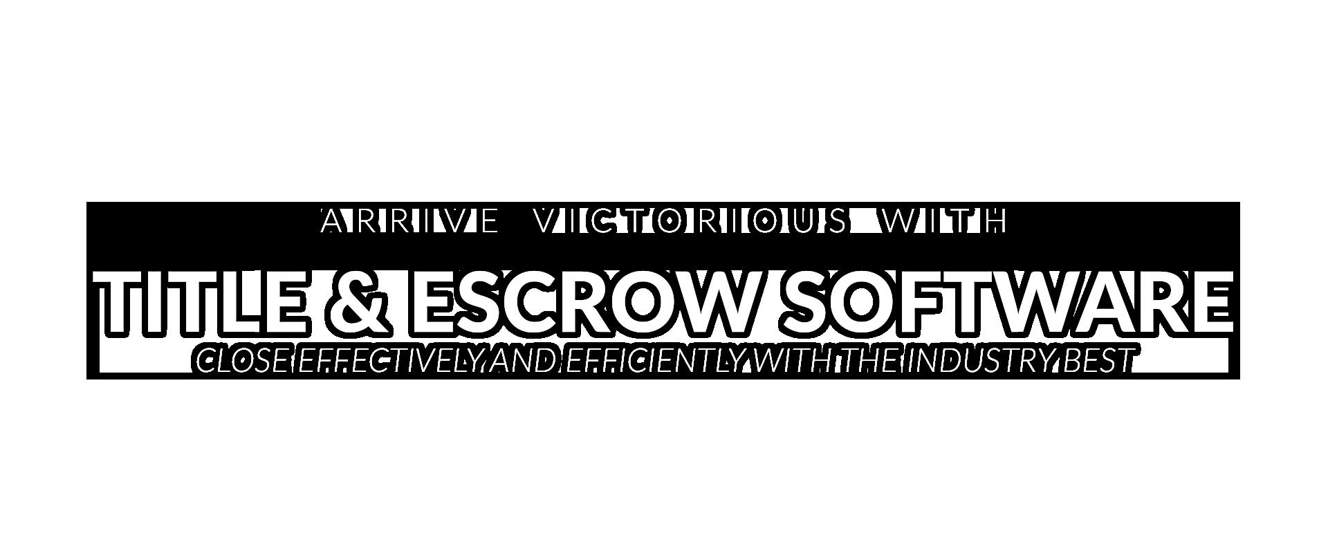 Title & Escrow Software
